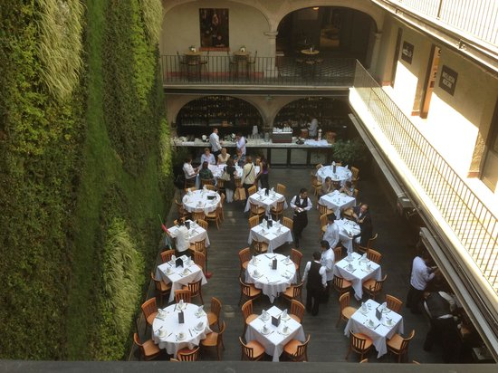 Hotel Downtown Mexico:                   view from my room to second restaurant