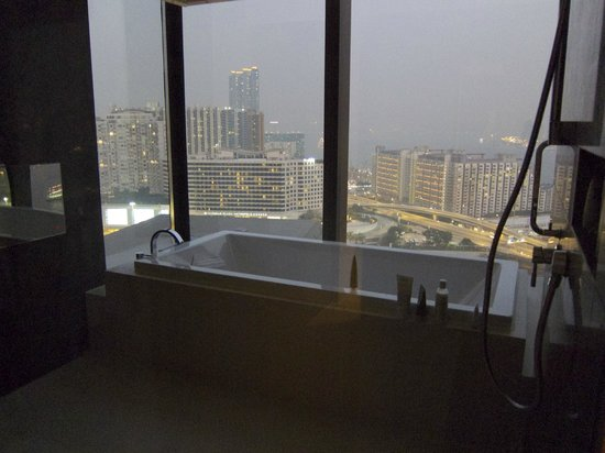 Hotel ICON:                   My favorite part of the suite, the giant tub with view
