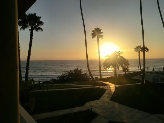 SeaCrest OceanFront Hotel:                   Sunset from our rom