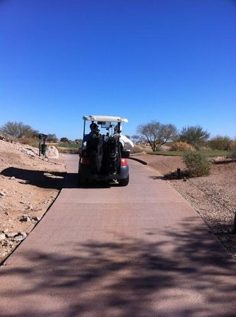 Whirlwind Golf Club:                   cart path.