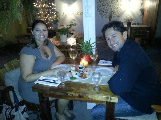 Enjoying our dinner at De Suikertuin