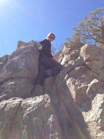 Emory Peak:                   The rock scramble