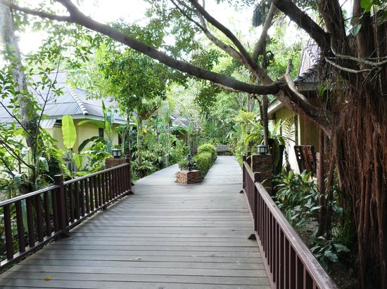 Sunda Resort:                   Walkway from reception