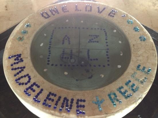 Azul Beach Resort Riviera Maya:                   Personalized welcome fountain for our wedding at Azul Beach