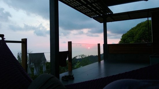 Kura Design Villas Uvita:                                                       Sunset from Infinity Villa #1
