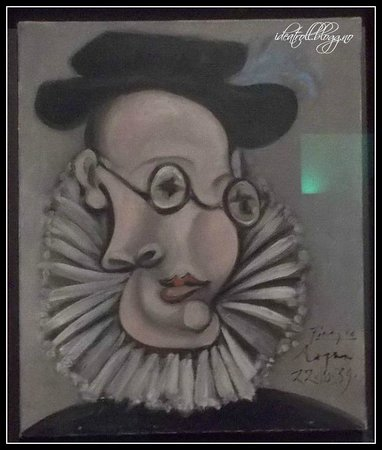 Museu Picasso:                   One of the few pictures og this style in the museum.