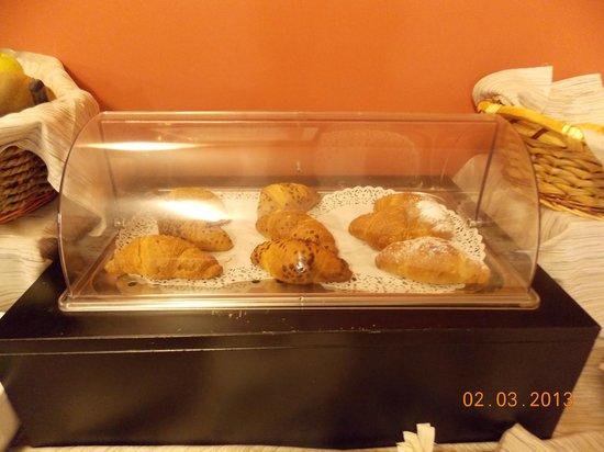 Hotel Urbani:                   Freshly baked croissants - so delicious