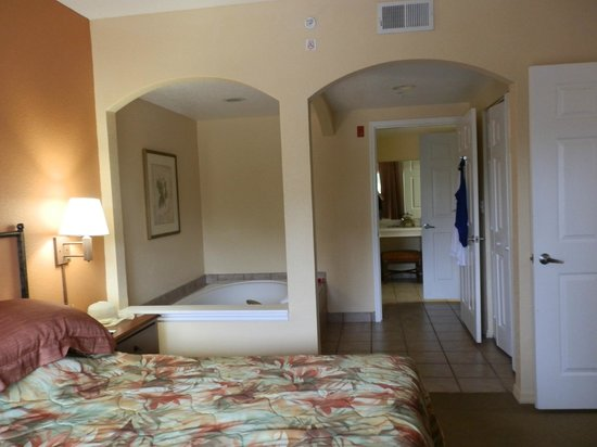 Vacation Village at Parkway:                   our bedroom/jacuzzi suite