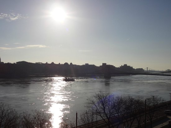 art'otel budapest:                   View over river and city                 