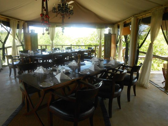 Azura Selous Game Reserve:                   Dining Area