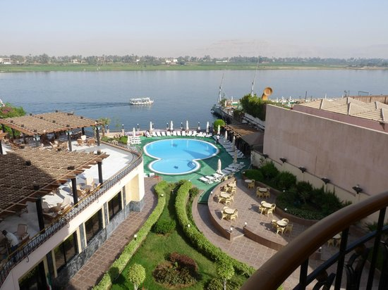 Lotus Luxor Hotel:                                     View from 4th floor