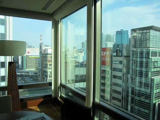 The Peninsula Tokyo:                   View from living room