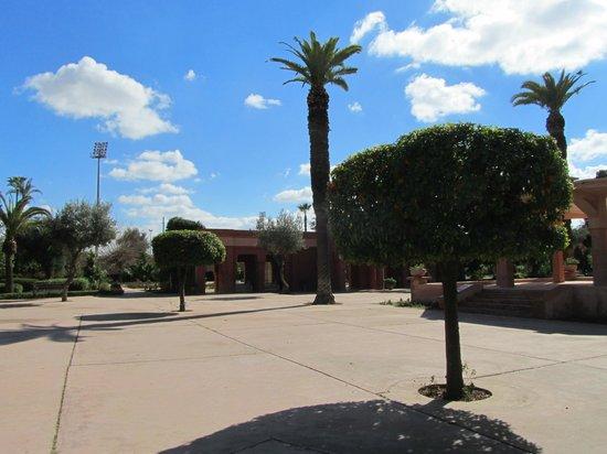 Jardin el Harti :                   het centrale plein van het park