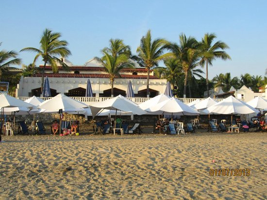 Gran Festivall All Inclusive Resort:                   small area of resort palapas, restaurant area on top