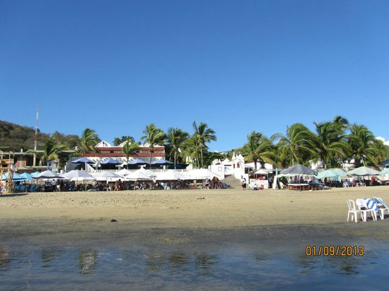Gran Festivall All Inclusive Resort:                   beach area, white palapas are resorts