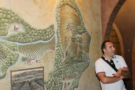 Chianti Inside Out :                   Enzo providing history of the vineyard
