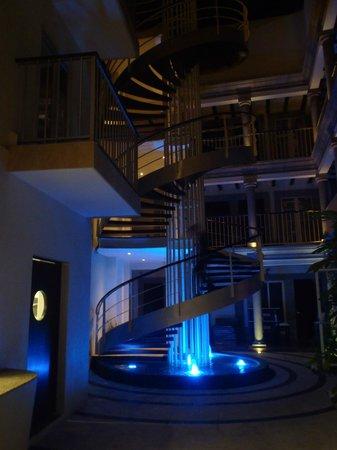 The Jonathon :                                                                         In side stairway in lobb
