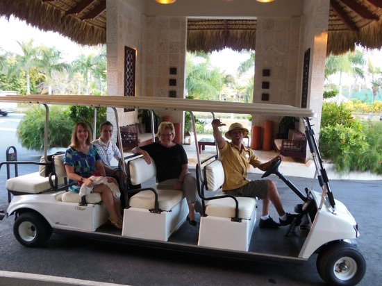 The Reserve at Paradisus Palma Real:                   Beach limousine