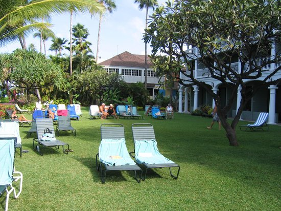 Lahaina Shores Beach Resort:                   Lawn for sunning