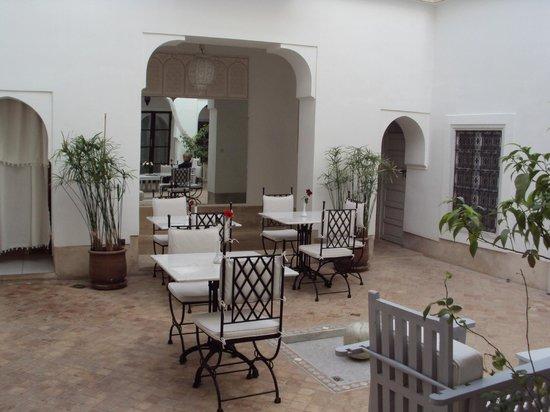 Riad Chi-Chi:                   courtyard dining