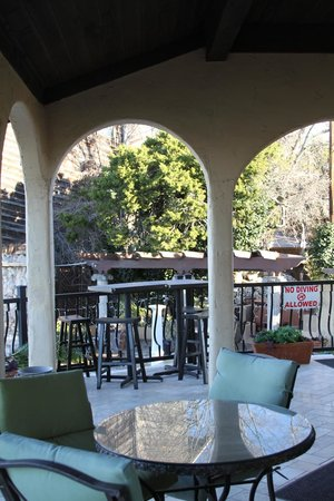 La Villa Vista:                   The main balcony has lots of room to lounge and enjoy the view and a beverage.