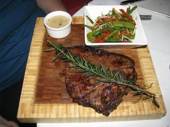 Brew Bistro & Lounge:                   T-bone steak