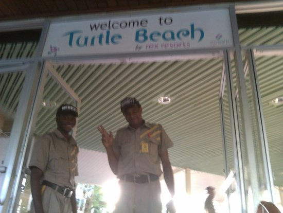 Turtle Beach by Rex Resorts:                   Welcoming guards!