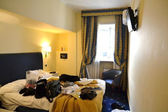 Hotel Napoleon:                   5th floor room (excuse the mess)