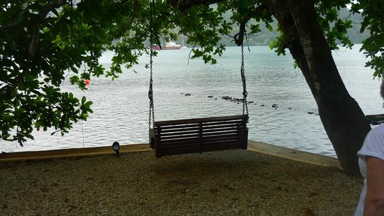 El Otro Lado:                   Swing underneath a huge shade tree over the waters edge toward Portobelo