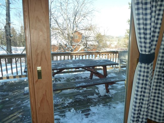 Rangeley Lake Resort, a Festiva Resort:                   Deck off living/dining room