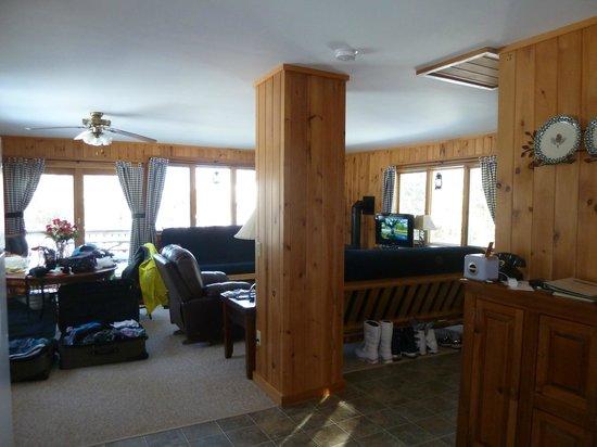 Rangeley Lake Resort, a Festiva Resort:                   view from kitchen toward living room