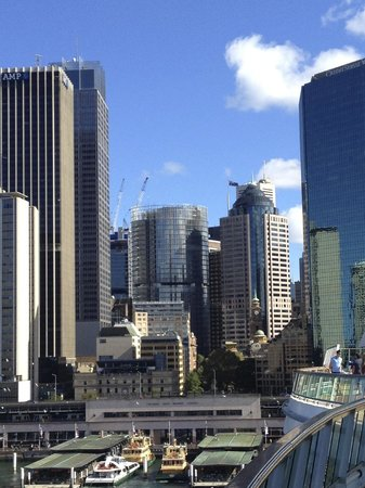 Sydney Harbour Marriott Hotel at Circular Quay:                   Sydney skyline from Circular Quay.  Marriott among them