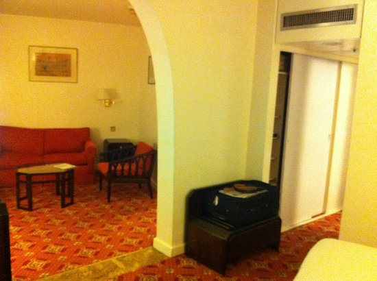 Hilton Nairobi:                   cupboard and living area
