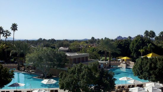 The Phoenician, Scottsdale:                   View from outside main lobby