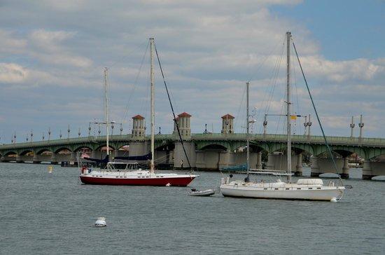 Shutterguide Tours:                   Sailboats near the Bridge of Lions - St. Augustine