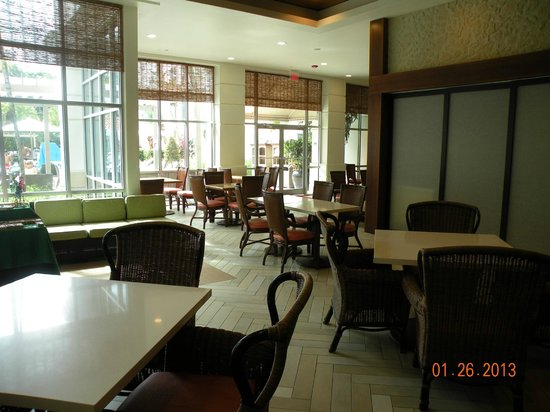 Hampton Inn & Suites San Juan:                   Breakfast area