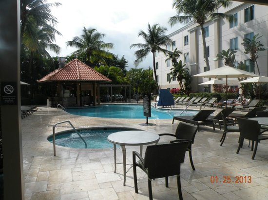 Hampton Inn & Suites San Juan:                   Pool with grill in background