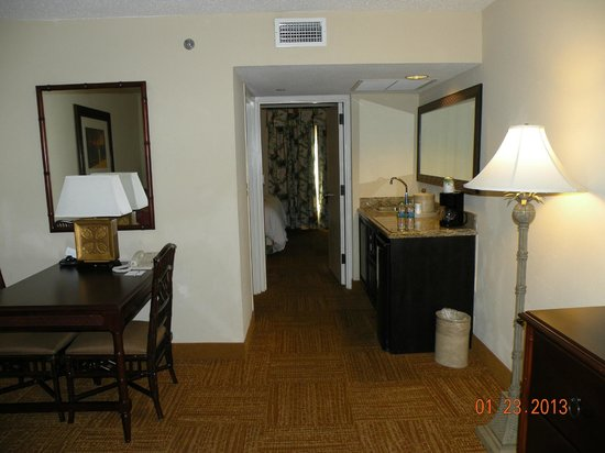 Hampton Inn & Suites San Juan:                   Our suite