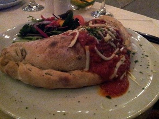 Casanova Restaurant and Wine Bar:                   Vegetable Calzone main