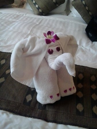 Anantara Hua Hin Resort:                   Elephant towel