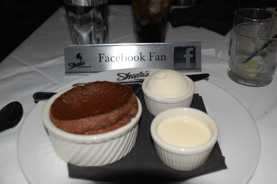 Shula's Steak House - Center Valley:                   Special appreciation for Facebook Fans