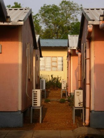 Hamza Inn:                   Between the bungalows