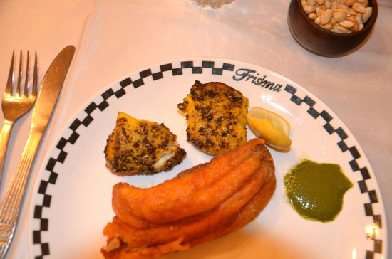 Trishna Restaurant :                   Delicious pepper pomfret