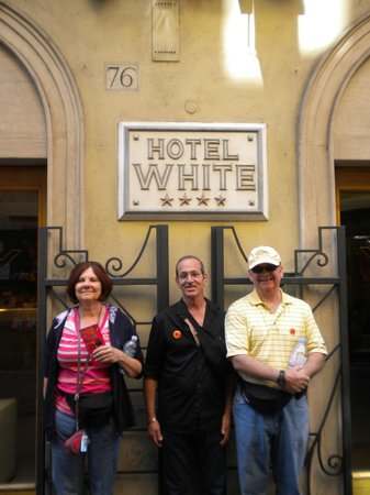 White Hotel: With friends in front of Hotel White