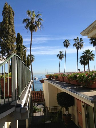 Portofino Hotel:                   Good morning, Catalina! (The view from our room's sliding door!)