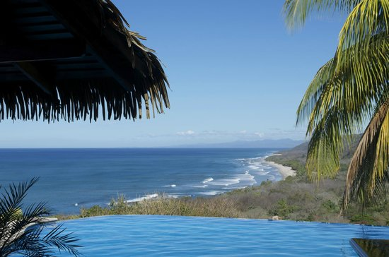 Hotel Vista de Olas:                   View from the pool