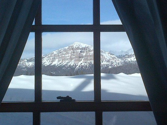Brooks Lake Lodge and Spa:                   I took this picture sitting on the edge of the bed looking out our window.