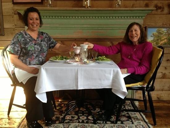 Village Tea Room at Borsari Gallery:                   second visit with mom