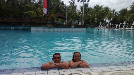 Ramada Bintang Bali Resort:                                     Best pool ever. Waterfalls, swim up bar and spas...