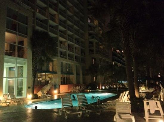 Ocean Drive Beach and Golf Resort:                   pool at night